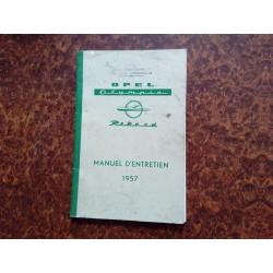 manuel d'entretien