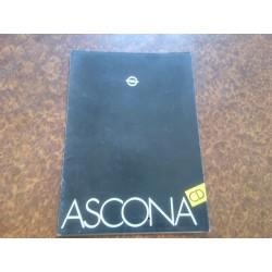 Prospectus Ascona C CD